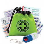 Promotional 1st Aid Kits, Masks and Pill Dispensers