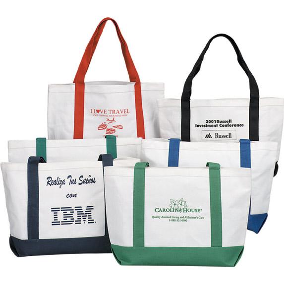 Accent Color 12 oz. Canvas Tote - Bags