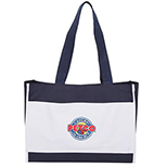 Classic Two-Tone Gusseted Tote