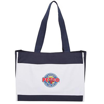 Classic Two-Tone Gusseted Tote - Bags