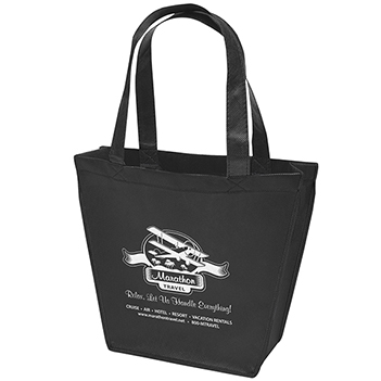 Non-Woven Soft Gusseted Cafe Tote  - Bags