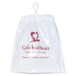 Plastic Bag with Cotton Drawstring