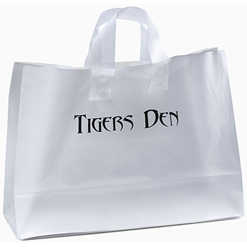 Frosted Shopper with Fused Handles  - Bags