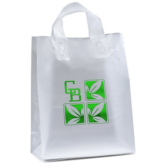 Loop Handle Frosted Shopper  - Bags
