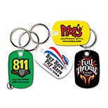 Soft-Touch Vinyl Key Tag