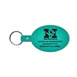 Oval Vinyl Key Tag with 1 Split-Ring