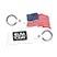U.S.A. Flag Key Tag - Travel Accessories & Luggage