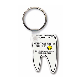 Tooth-Shaped Key Tag - Travel Accessories & Luggage