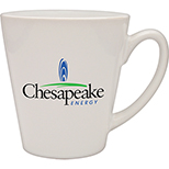 White Pearl Taper Ceramic Cafe Mug