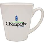 White Pearl Taper Ceramic Cafe Mug