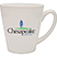 White Pearl Taper Ceramic Cafe Mug          - Mugs Drinkware