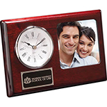 Rosewood Clock with Frame