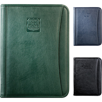 Durahyde Zippered Letter Size Padfolio - Padfolios, Journals & Jotters