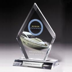 Lasered Jade Acrylic Award