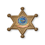 Sheriff Badge Chipboard Button