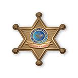 Sheriff Badge Chipboard Button