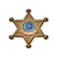 Sheriff Badge Chipboard Button  - Awards Motivation Gifts