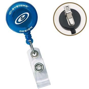Round Retractable Badge Holder  - Awards Motivation Gifts