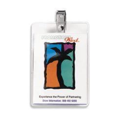 Clear Vinyl Badge Holder-No Imprint