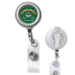Matte Metal Retractable Badge Holder