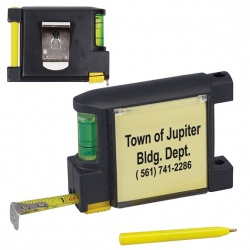 Tape Measure with Level, Pen and Pad