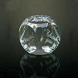 Thank You Crystal Paperweight Gift