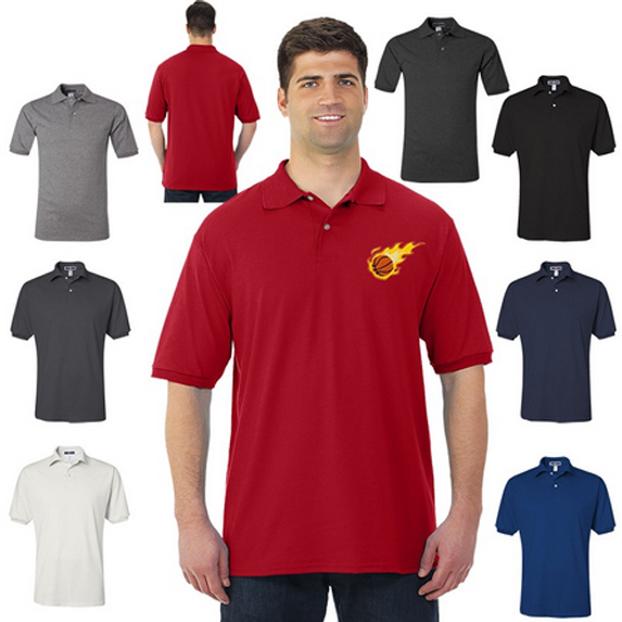 Stain Resistant Men's 50/50 Polo by Jerzees  - Apparel