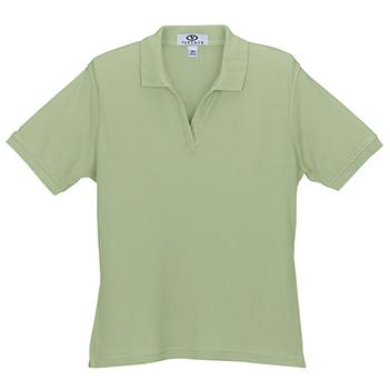 Women's Solid Cotton Baby Pique Polo - Apparel