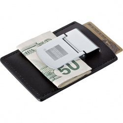 Zippo Spring Loaded Leather Money Clip
