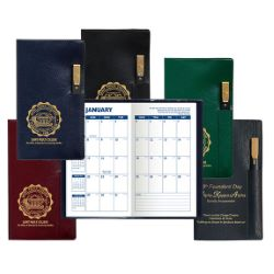 Planner with Flat Gold Tip Pen