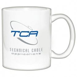 11 oz. White Ceramic Coffee Mug