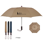 Vented Auto Open Folding Umbrella 44 Arc