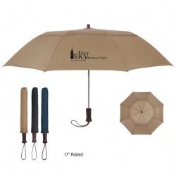 Vented Auto Open Folding Umbrella 44 Arc