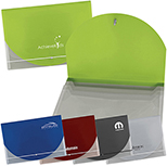 Translucent Document Holder with Accent Color Flap