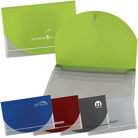 Translucent Document Holder with Accent Color Flap - Bags