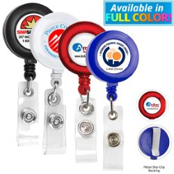 30 Round Retractable Badge Holder