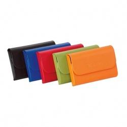 Color Bright Leather Hardcase Card Holder