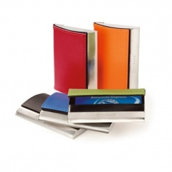 Leather and Chrome Card Case