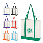 Non-Woven Boat Tote with Color Trim