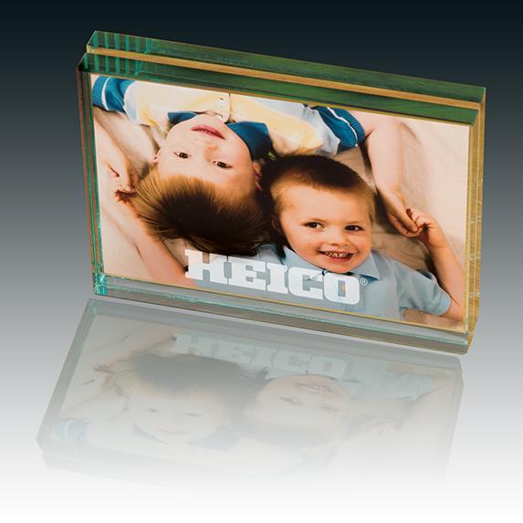 Sleek Glass Desk Frame 4 x 6 - Awards Motivation Gifts