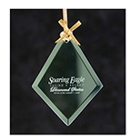 Jade Glass Diamond Ornament