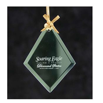Jade Glass Diamond Ornament - Kitchen & Home Items