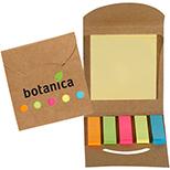 Recycled Folding Sticky-Note & Flag Folder