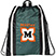 Drawstring Backpack with Reflective Strips - Bags
