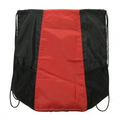 Drawstring Bag with Mesh Pockets