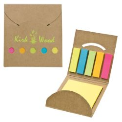 Multicolor Recycled Notepad Flag Set