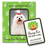 Pet Themed Rectangular Punch out Magnet