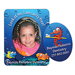 Full Color Oval Cut Out Picture Frame
