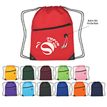Sports Backpack with Front Zipper