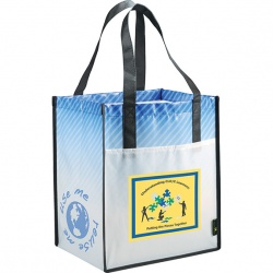 Laminated Non-Woven Tote with Front Pocket